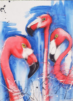 The 3 Flamingoes