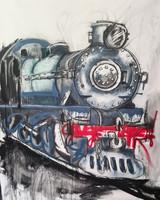 Train Mural Limited Edition Canvas Print