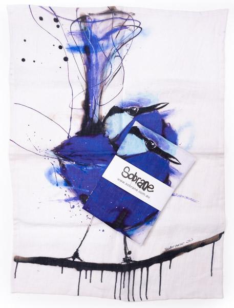 Blue Wren Tea Towel