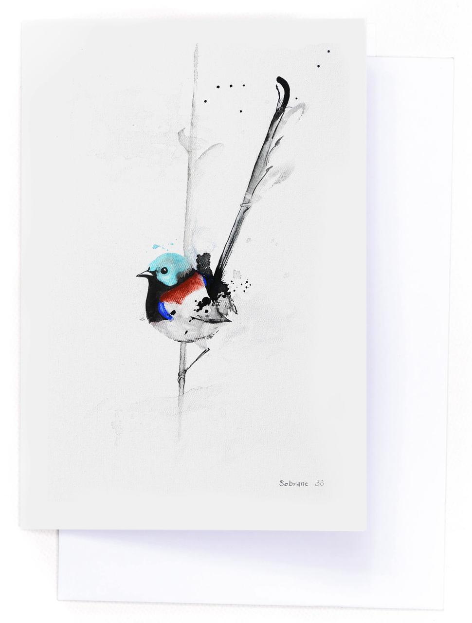 Variegated Fairy Wren Card