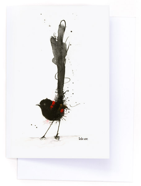 Red Backed Fairy Wren Card