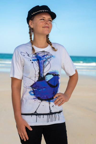 Splendid Blue Wren Tshirt