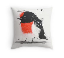 All cotton Red Robin Cushion. 40cm x 40cm. Image on both sides of the cushion. Shipped without fill. Washable and scotch guarded.