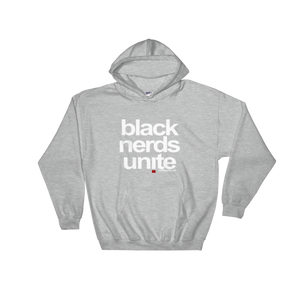 Black Nerds Unite: Hooded Pullover Sweatshirt (center print)