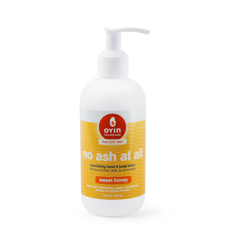 No Ash At All - cocoa butter lotion in an 8oz  pump bottle