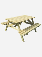 Kitset Wooden BBQ Table 1350mm long