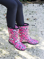 Womens Gumboots - Sloggers Pink Cowabella