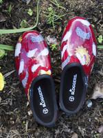 Sloggers Women's Chicken Barn Red Garden Clogs