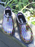Sloggers Women's Garden Clogs in Multi Pin Dot