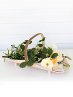 Handcrafted Timber Flower Basket