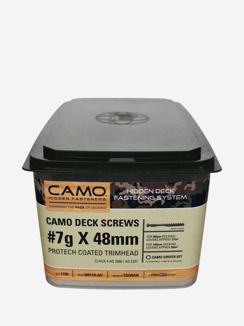 CAMO Marksman Pro Hidden Deck Screws 48mm long 316 grade Stainless Steel