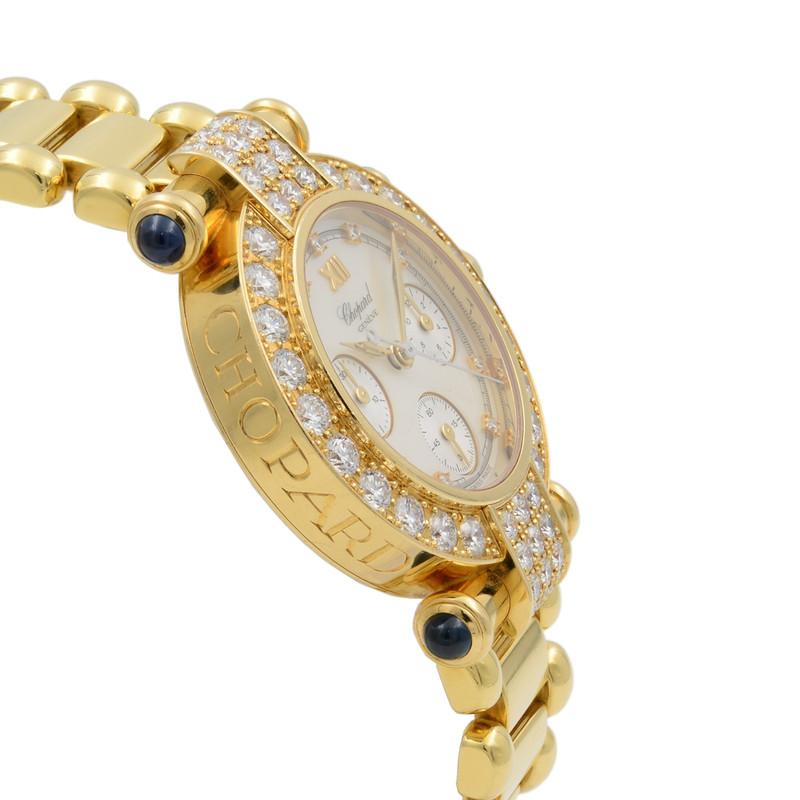 Chopard Imperiale 18K Yellow Gold Quartz Diamond MOP Ladies Watch