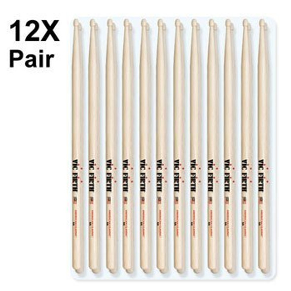 (12 Pair) 5A Drum Sticks - American Classic ? VIC FIRTH