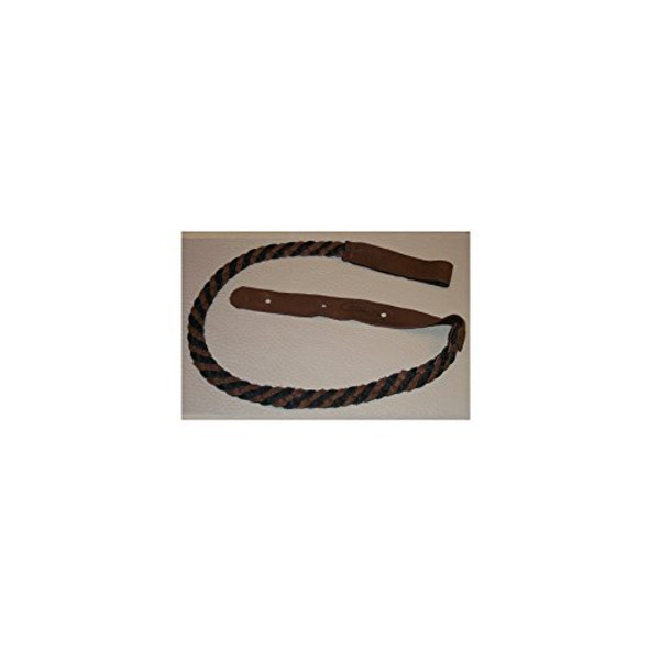 Lakota Leathers LK-FBCH Mandolin Strap Flat Braid 43in Black & Chocolate