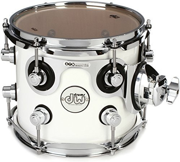 "DW Design Series Mounted Tom - 7"" x 8"" Gloss White"