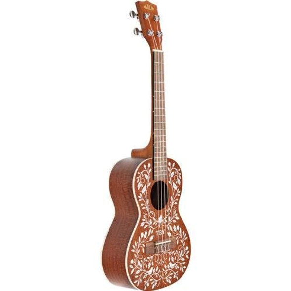 Kala Mandy Harvey Learn To Play Tenor Ukulele Starter Kit - Natural Mahogany w/Artwo
