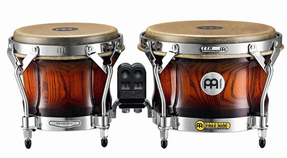Meinl Percussion WB500AMB Free Ride Series Woodcraft Bongos, Antique Mahogany Burst