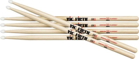 Vic Firth 3-Pair American Classic Hickory Drumsticks Nylon 5B