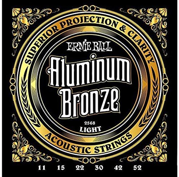 Ernie Ball 2568 Aluminum Bronze Light Acoustic Guitar String Set - 2 Pack
