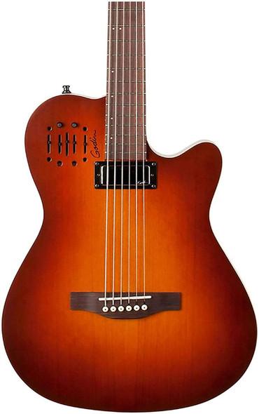 Godin A Series A6 Ultra Baritone Acoustic-Electric Guitar Burnt Umber