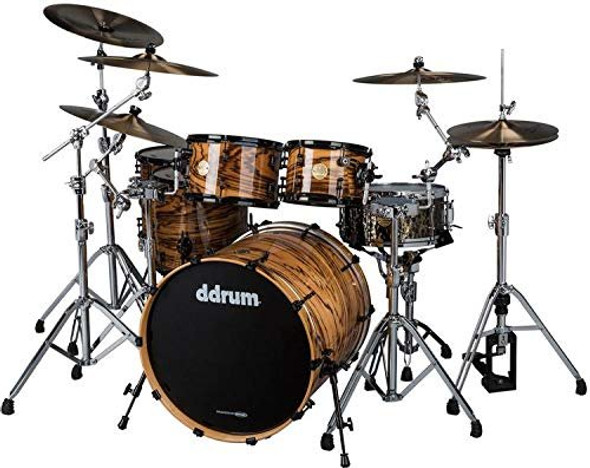 ddrum Dios Exotic Zebra Wood- Natural 5-Piece Shell Pack Drum Set