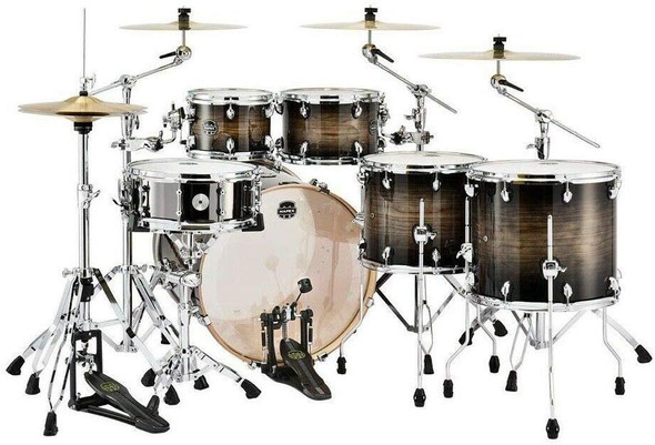 Mapex Armory Studioease Fast Shell Pack - Black Dawn with Chrome Plated Hardware