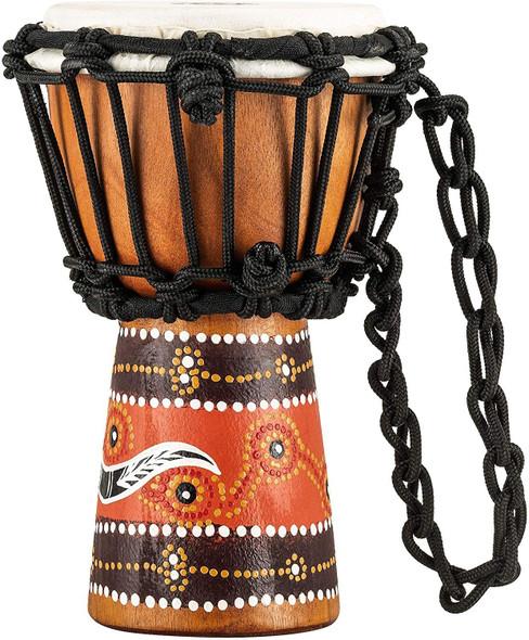 Meinl Percussion HDJ5-XXS Python Design Rope Tuned Mahogany Wood 4 1/2-Inch Mini Djembe with Goat Skin Head