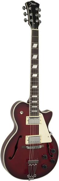 Johnson JH-100-WNB Delta Rose Electric Guitar, Wineburst