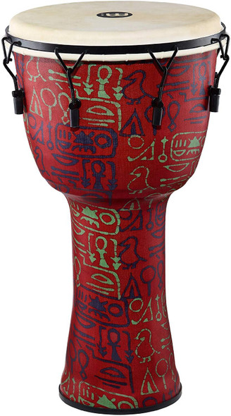 Meinl Extra Large Rope Tuned Travel Series Djembe with Synthetic Shell and Head