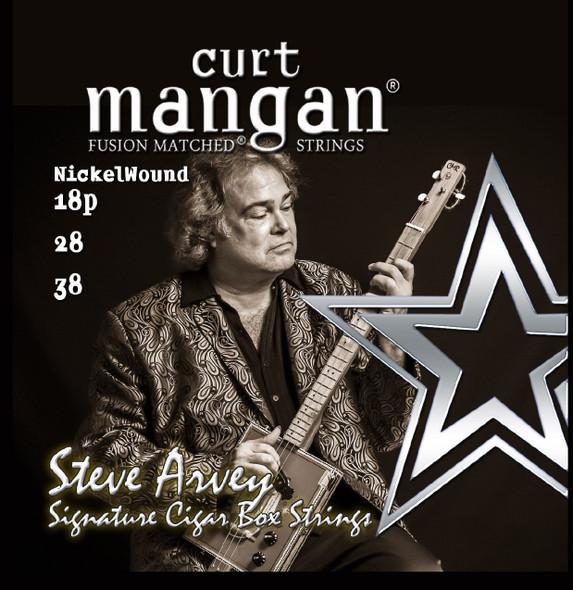 Curt Mangan Fusion Matched Cigar Box Strings - 38/28/18