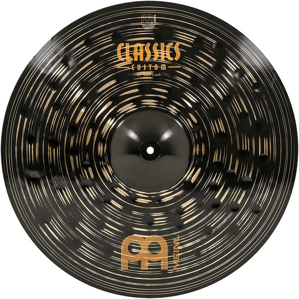"Meinl Cymbals 21"" Crash Cymbal - Classics Custom Dark - Made in Germany, 2-YEAR WARRANTY, inch (CC21DAC)"