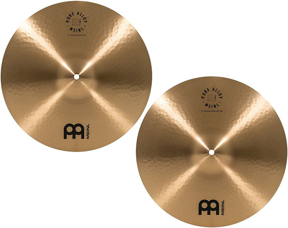 """Meinl 15"""" Medium HiHat (Hi Hat) Cymbal Pair - Pure Alloy Traditional - Made in Germany, 2-YEAR WARRANTY (PA15MH)"""