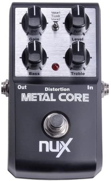 NUX Metal Core Deluxe Distortion Effect Pedal built-in Noise Gate 2-Band EQ Tone Lock