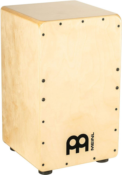 Meinl Percussion Cajon Box Drum with Internal Strings for Snare Effect, Natural — NOT MADE IN CHINA — 100% Baltic Birch, Woodcraft Series, 2-YEAR WARRANTY, WC100B