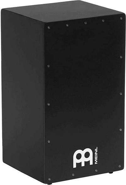 Meinl Percussion MCAJ200BK Black Stealth Cajon with Internal Snares, Birch Frontplate and Resonant MDF Body