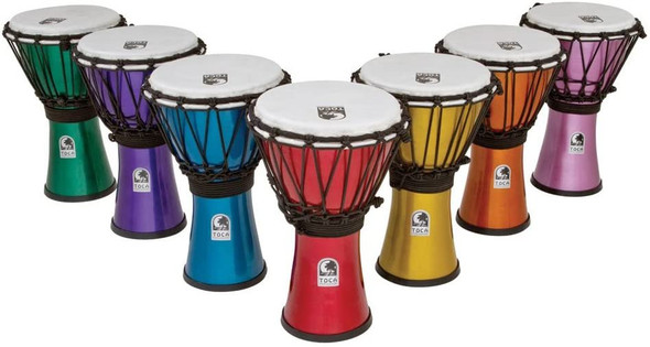 Toca TFCDJ-7MI Freestyle Colorsound 7-Inch Djembe - Red