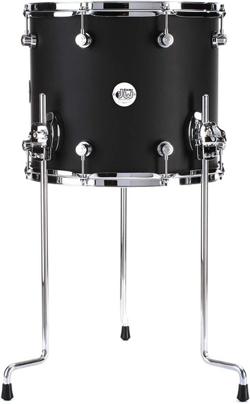 DW Design Series Floor Tom - 12 Inches X 14 Inches Satin Black