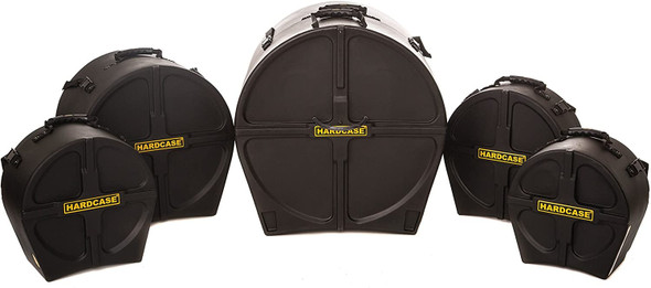 HARDCASE HSTANDARD Drum Case Set for 'Standard' Kits, 5 Pieces