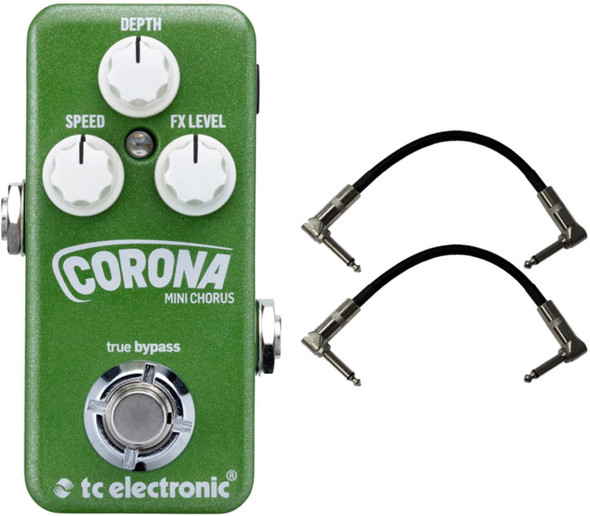 TC Electronic Corona Chorus MINI Effects Pedal w/Patch Cables