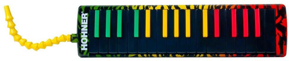 HOHNER Airboard Rasta 32 – Melodica included Softcase