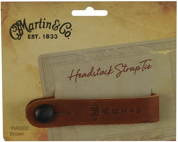 C.F. Martin & Co Guitar Leather Head Stock Strap Tie