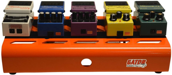 Gator GPB-LAK-OR British Orange Small Aluminum Pedal Board with Gator Carry Bag and 6 Patch Cables
