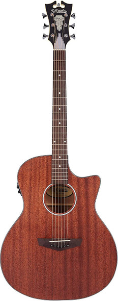 D'Angelico 6 String Acoustic-Electric Guitar, Right, Natural (DAPLSG200MAHCP)