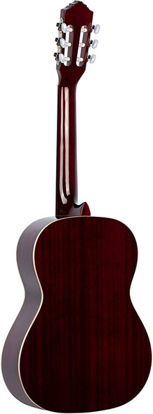 Ortega Guitars 6 String Family Series 7/8 Size Nylon Classical Guitar w/Bag, Right-Handed, Spruce Top-Wine Red-Gloss, (R121-7/8WR)