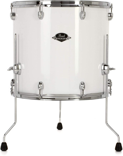 Pearl EXX Export Floor Tom 18 x 16 in. Pure White with Chrome Hardware