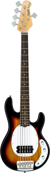 Sterling By MusicMan Sterling by Music Man StingRay Classic Ray25CA Bass Guitar in 3-Tone Sunburst, 5-String, Right, (RAY25CA-3TS-R1)