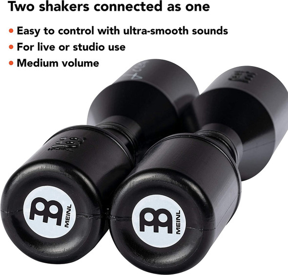 Meinl Series Signature Luis Conte Artist Shaker for Cajon, Drum Set or Any Percussion Setup —NOT MADE IN CHINA — Durable All-weather Synthetic Material, 2-YEAR WARRANTY, Black (medium) (SH4BK)