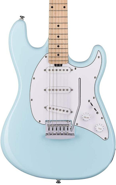 Sterling By MusicMan 6 String Solid-Body Electric Guitar, Right, Daphne Blue (CT30SSS-DBL-M1)