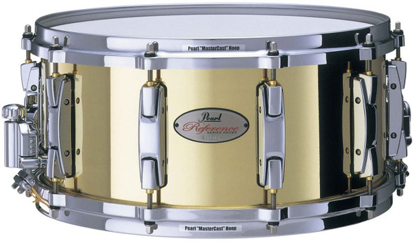 """Pearl Reference 14""""x6.5"""" Brass Snare Drum w/ Die Cast Hoops & SR1000 Throw Off"""