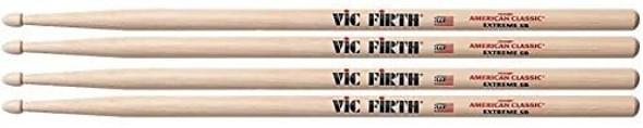 Vic Firth X5B Extreme 5B Wood Tip Drum Sticks (2 Pair)